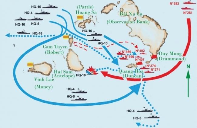 Trung Cộng đổ bộ tấn công quần đảo Hoàng Sa tháng 1 năm 1974